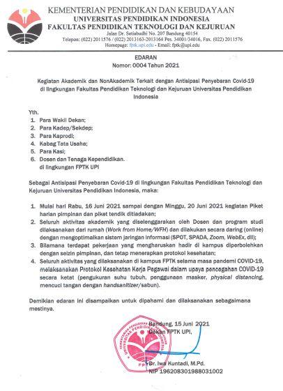 Surat Edaran Nomor 4 Tahun 2021