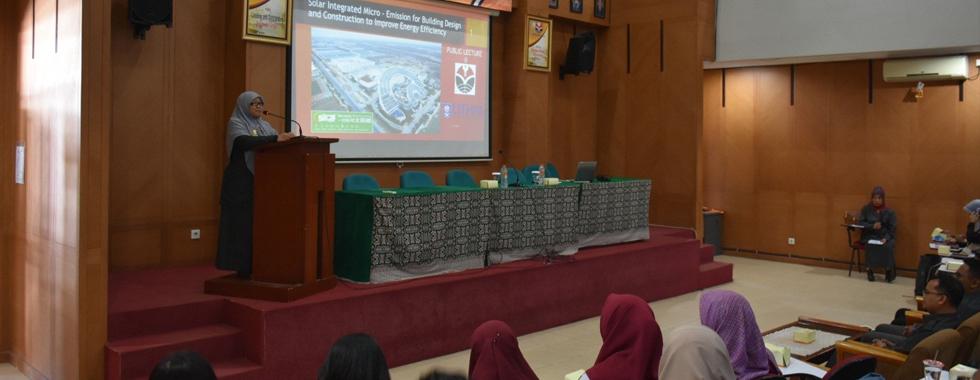 Public Lecture dari Profesor Madya Zainal Abidin Akasah Solar Integrated Micro - Emission for Building Design and Construction to Improve Energy Efficiency