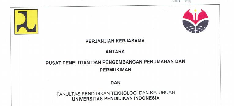 Perjanjian Kerja Sama antara Puslitbang Permukiman dan  FPTK UPI