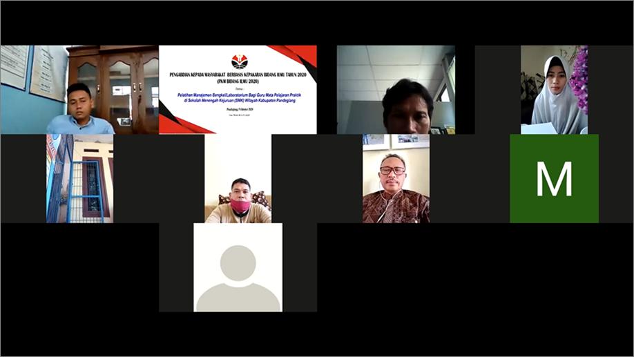 Dosen DPTE FPTK UPI berikan Pelatihan Manajemen Bengkel Laboratorium Bagi Guru SMK DI Pandeglang