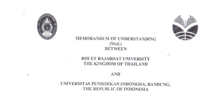 Mou antara Roi Et Rajabhat University, The Kingdom of Thailand dan UPI Indonesia