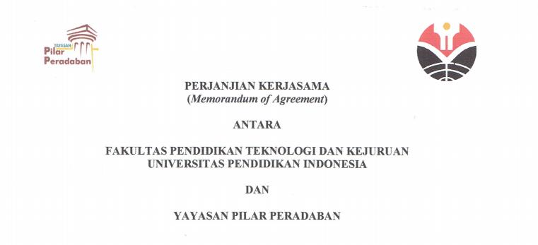 Perjanjian Kerja Sama antara FPTK UPI dan Yayasan Pilar Peradaban.pdf