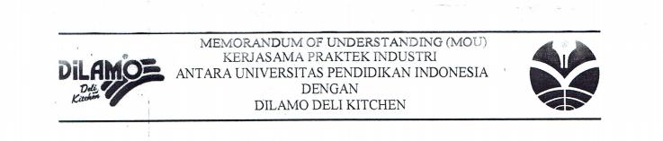 MoU antara FPTK UPI dan Dilamo Deli Kitchen