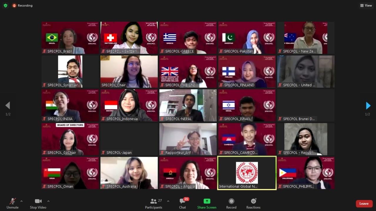 Mahasiswa Prodi Teknik Logistik Menjadi Perwakilan Komite Negara Swiss dalam Asia World Model United Nations (AW MUN) 2021