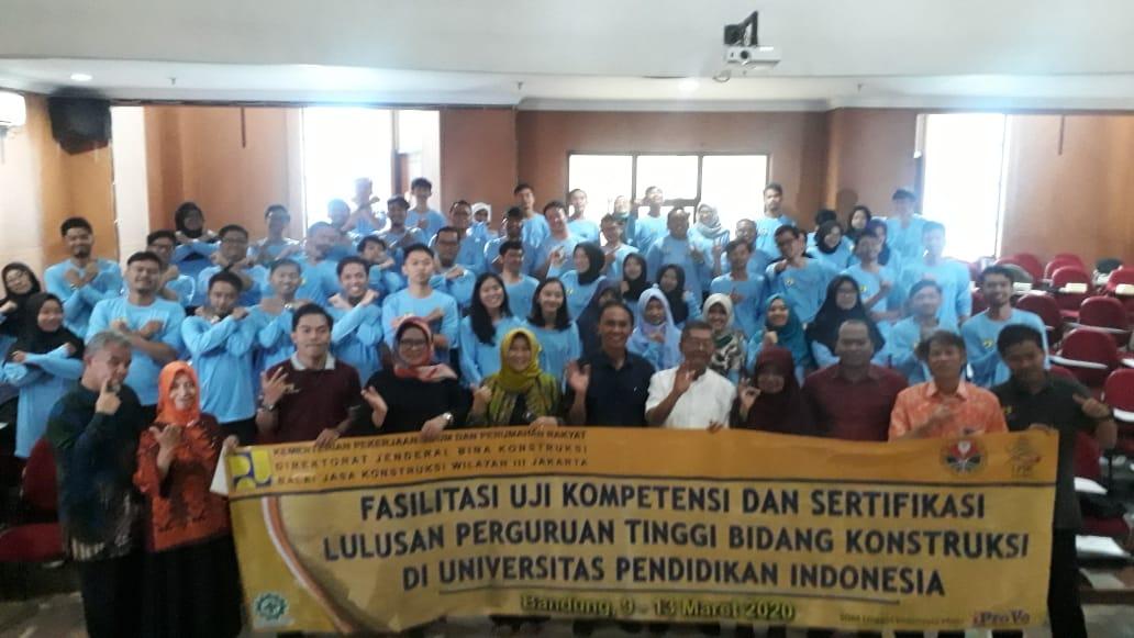 FPTK UPI Selenggarakan Fasilitasi Uji Kompetensi dan Sertifikasi Lulusan Perguruan Tinggi Bidang Konstruksi