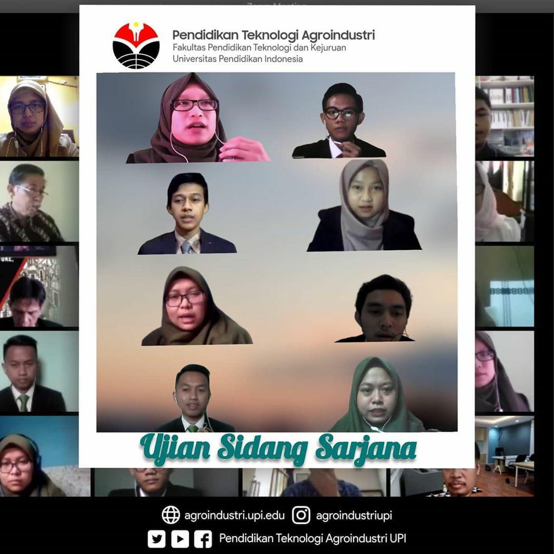 """Mahasiswa Prodi Pendidikan Teknologi Agroindustri FPTK UPI Berhasil Lulus Ujian Sidang Sarjana """"Online"""""""