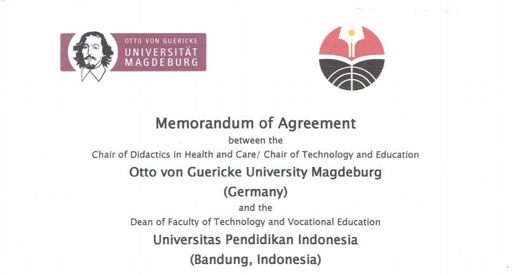 Memorandum of Agreement between Otto von Guericke University Magdeburg (Germany) and Universitas Pendidikan Indonesia (Indonesia)