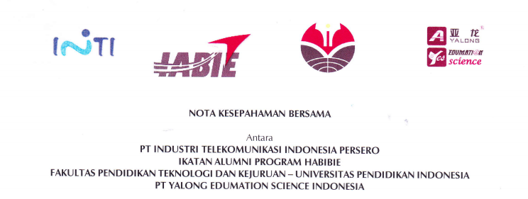 Memorandum of Agreement Between Indonesian Telecommunication Industry, Collegiate Association of Habibie Program, Faculty of Technology and Vocational Education UPI and Yalong Edumation Science Indonesia