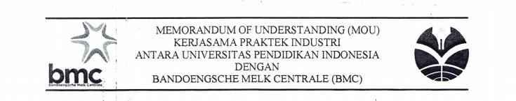MoU antara FPTK  UPI dan Bandoengsche Melk Centrale