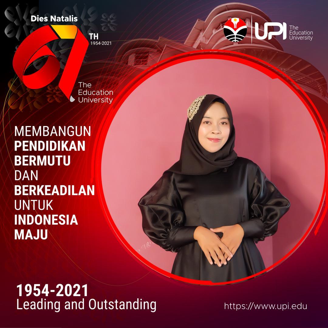 Intip Kesuksesan Puspa Nur Ayda Wisudawan terbaik tingkat FPTK UPI pada acara Wisuda Gelombang III Tahun 2021