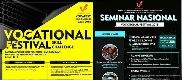 FPTK UPI Akan menyelenggarakan VOCAFEST (Vocational Festival)