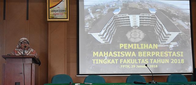 Pemilihan Mahasiswa Berprestasi Tingkat Fakultas Tahun 2018