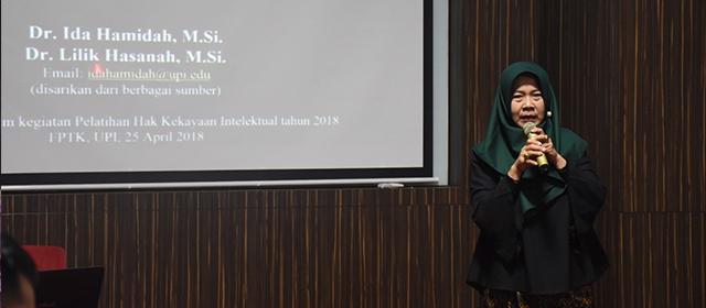 FPTK UPI menyelenggaraan pelatihan HKI dan penulisan buku
