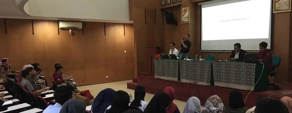 Departemen Pendidikan Teknik Arsitektur FPTK UPI Gelar Sosialisasi Organisasi Profesi Arsitek & Peta Jalan Pendidikan Formal Menjadi Arsitek Di Indonesia