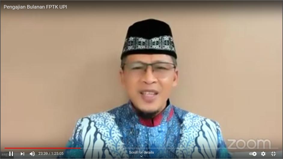 KH. Abdullah Gymnastiar sebagai Penceramah Pengajian Bulanan FPTK UPI