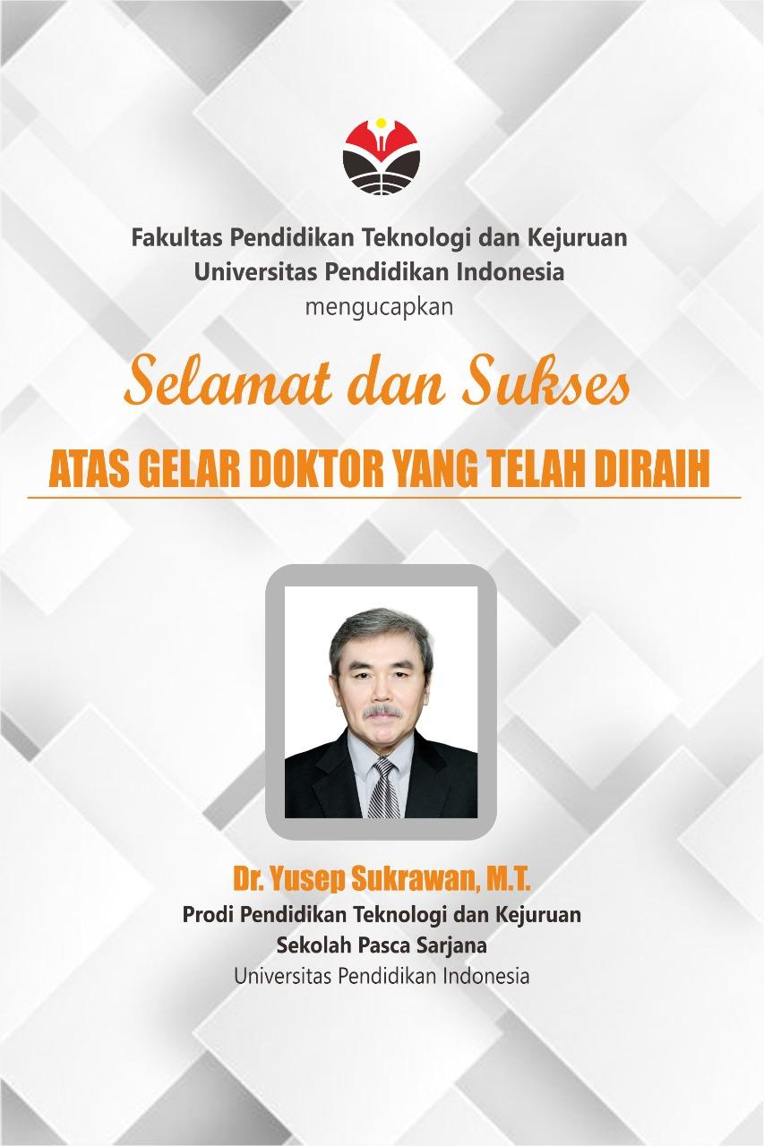 Selamat dan Sukses Atas Gelar Doktor Yang Telah Diraih