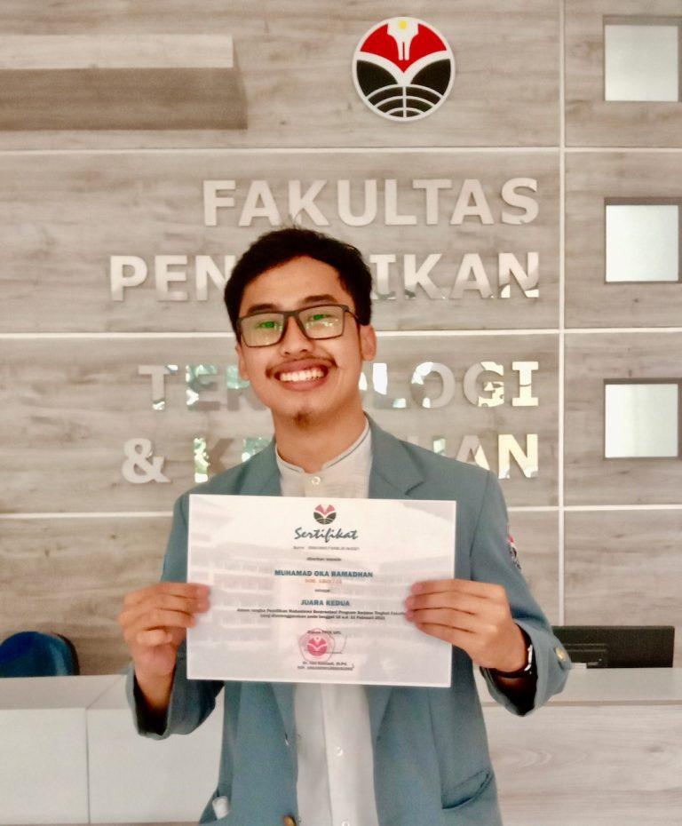 Muhammad Oka Ramadhan (Oka), Student of Program of Study Agro-Industrial Technology Education Gets 2nd place of FPTK MAPRES