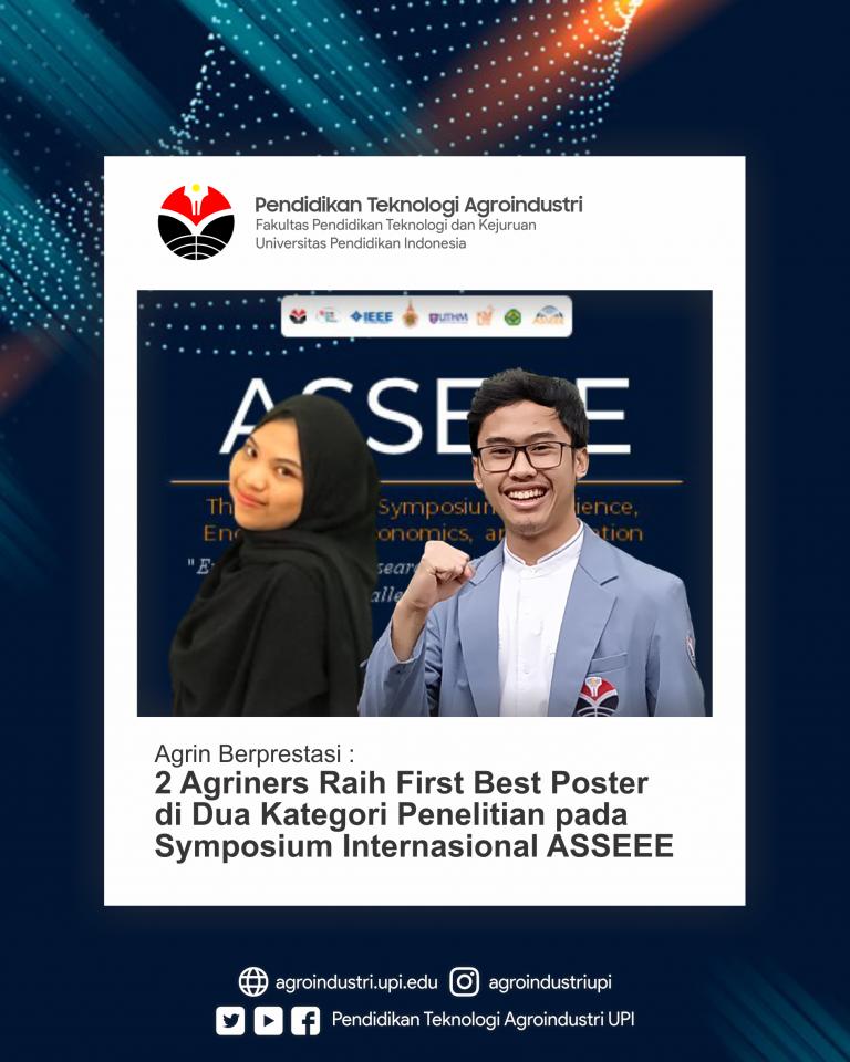 Tim mahasiswa Program Studi Pendidikan Teknologi Agroindustri Raih Best Poster