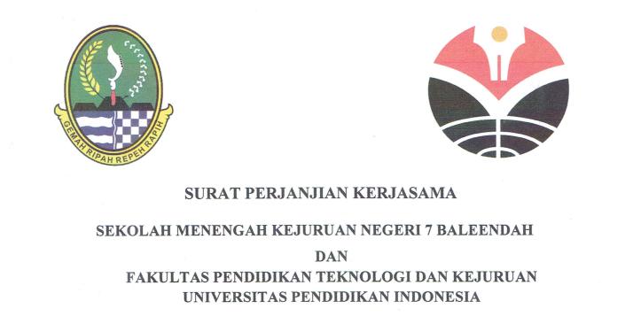 Surat Perjanjian Kerjasama antara SMKN 7 Baleendah dan FPTK UPI