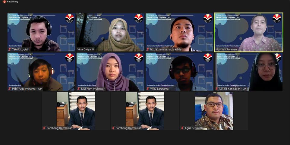 President Indonesian Supply Chain and Logistics Institute (ISLI) Menjadi Narasumber FGD Pengembangan Kurikulum dan KBK Program Studi Teknik Logistik