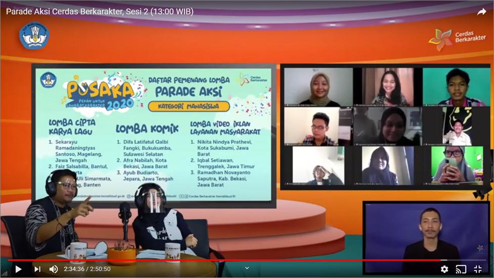 Mahasiswa Prodi PKK FPTK UPI Raih Juara 1 Lomba Video Iklan Layanan Masyarakat