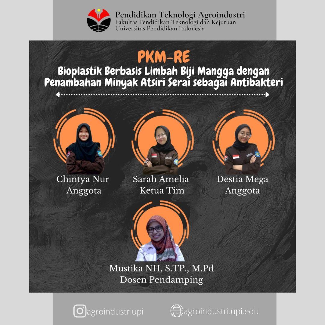 TIM PKM-RE UPI : Mengubah Limbah Biji Mangga Menjadi Bioplastik Ramah Lingkungan