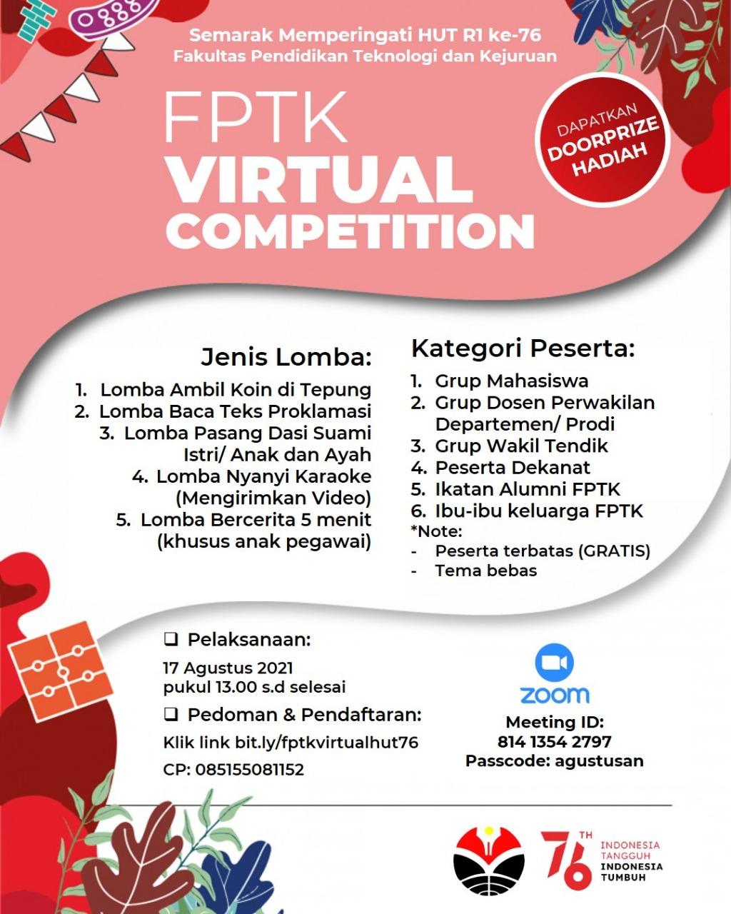 "FPTK Virtual Competition ""Agustusan"" 2021"
