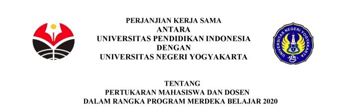 Perjanjian Kerjasama antara Program Studi Pendidikan Teknik Mesin FPTK UPI dan Universitas Negeri Yogyakarta