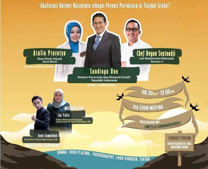 Gamananta Boga 2021, Akulturasi Kuliner Nusantara Sebagai Potensi Pariwisata Di Tingkat Global: Talkshow Dan Kompetisi Nasional