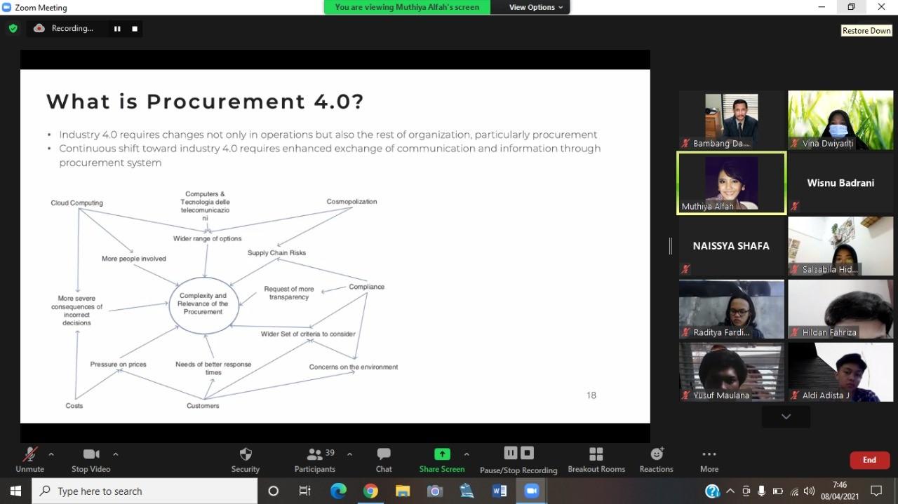 Logistics Engineering Students FPTK UPI Learn Procurement 4.0 with Lazada